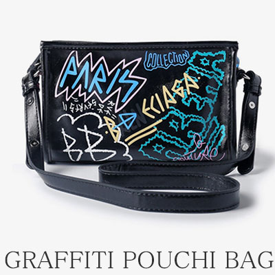 GRAFFITI POUCHI CROSS SHOULDER BAG(2color)