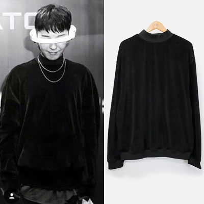 [UNISEX] G-DRAGON,KANYE WEST STYLE/VELOUR V-NECK SWEATSHIRTS