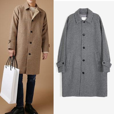 [WOOL MIX] CLASSIC RAGLAN CHECK COAT(2color)