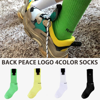 [UNISEX] PEACE BACK LOGO SOCKS(4color)