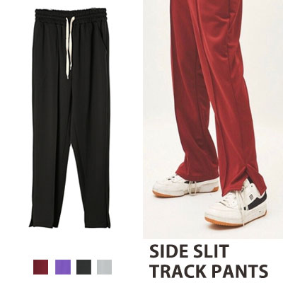 [UNISEX] SIDE SLIT TRACK PANTS(4color)