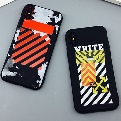 RED DIAGONAL YELLOW PATCH iPHONE CASE(2type)