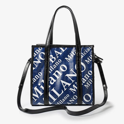 MILANO LOGO BLUE SQUARE SHOULDER BAG