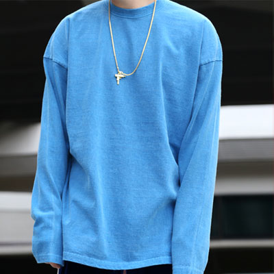 [UNISEX] PIGMENT WASHING COLOR LONG SLEEVE T-SHIRTS(7color)