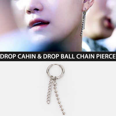 BTS SUGA STYLE! DROP CHAIN AND DROP BALL CHAIN PIERCE(3type)