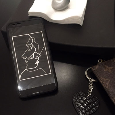 DRAWING BLACK BOX PHONE CASE