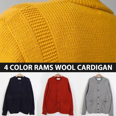 [UNISEX] RAMS WOOL CARDIGAN(4color)