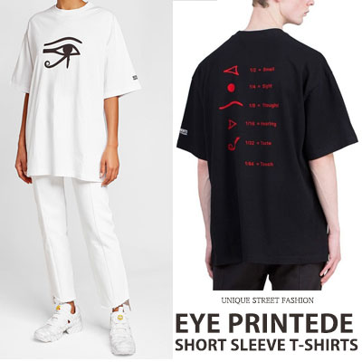 [UNISEX] EYE PRINTED SHORT SLEEVE T-SHIRTS(2color)