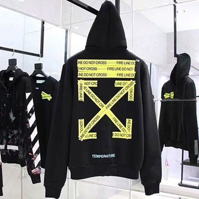 [UNISEX] YELLOW TAPE CROSS & ARROW PULLOVER HOODIE(2color)