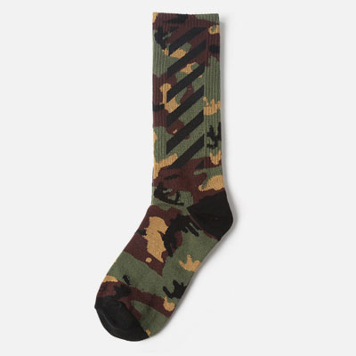 [UNISEX] DIAGONAL POINT CAMO PATTERN SOCKS