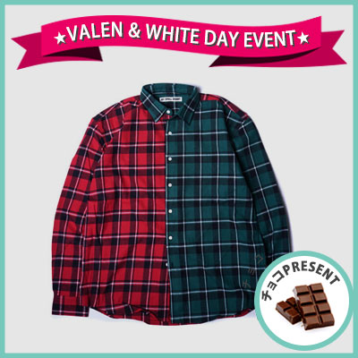 ★SWEET DAY EVENT★[UNISEX] WANNA ONE Kang daniel,J-park st./HALF&HALF MIX FLANEL CHECK SHIRTS(2color)