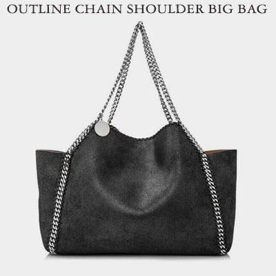 OUTLINE CHAIN SHOULDER BIG BAG(2size)
