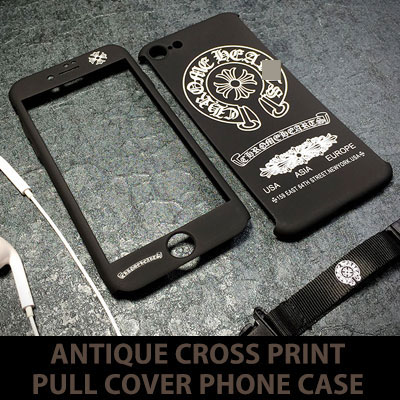 ANTIQUE CROSS PRINT PULL COVER iPHONE CASE