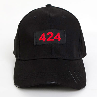 [UNISEX] RED NUMBERING PATCH BALL CAP