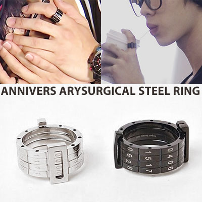 HIGHLIGHT LEE GIKWANG st. ANNIVERSARY SURGICAL STEEL RING(2color)
