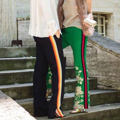 [UNISEX] RAINBOW LINE TAPE POINT BLACK TRACK PANTS(2size)