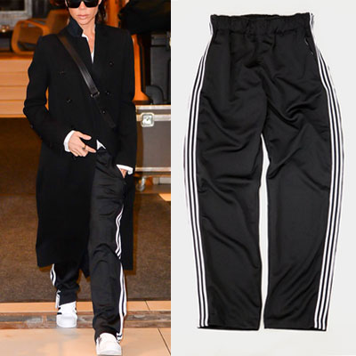 [UNISEX] WHITE 3LINE TAPE POINT TRACK PANTS