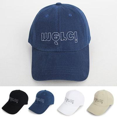 [UNISEX] MERCI STITCH POINT BALL CAP(4color)