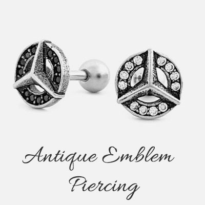 [1ea] ANTIQUE EMBLEM PIERCING(2color)