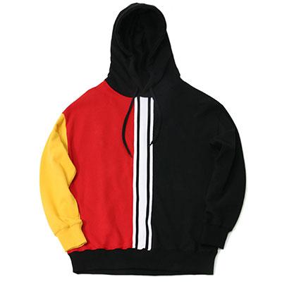 【2XADRENALINE】Old School Taping Hoodie - BLACK