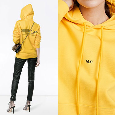 [UNISEX] TAXY LOGO POINT OVERSIZE HOODIE(2color)