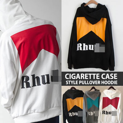 [UNISEX] CIGARETTE CASE STYLE PULLOVER HOODIE(3color)