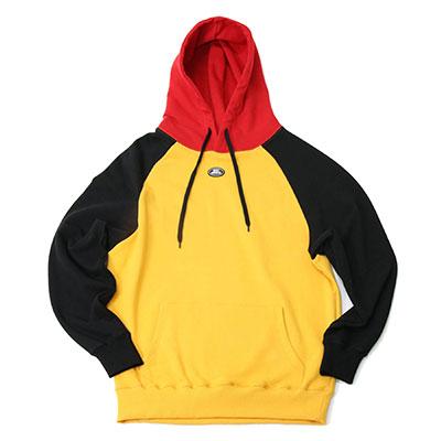 【2XADRENALINE】Raglan Color Match Hood  -  YELLOW