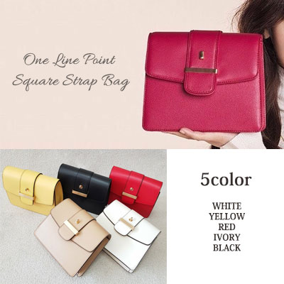 k-drama MY GOLDEN LIFE st. ONE LINE POINT SQUARE STRAP BAG(5color)