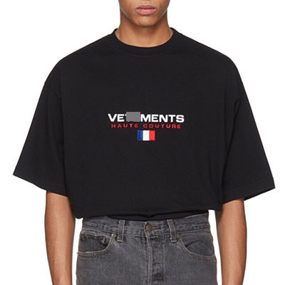 [UNISEX] FRANCE FLAG EMBROIDERY SHORT SLEEVE TSHITS(2color)