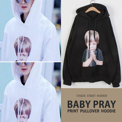 SHINee Taemin,Henry st/BABY PRAY PRINT PULLOVER HOODIE(2color)