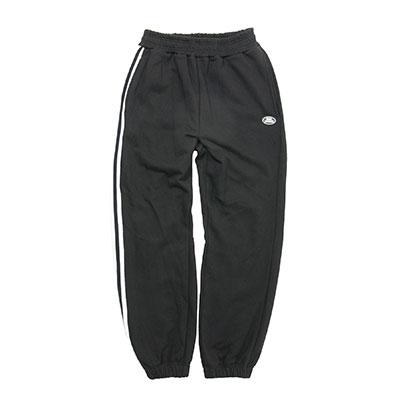 【2XADRENALINE】One side taping sweat pants - BLACK