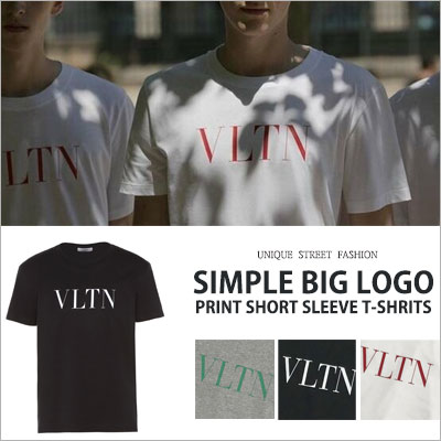 [UNISEX] SIMPLE BIG LOGO PRINT SHORT SLEEVE T-SHIRTS(3color)