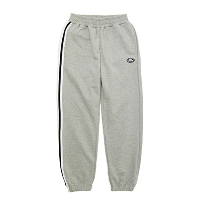 【2XADRENALINE】One side taping sweat pants - GREY