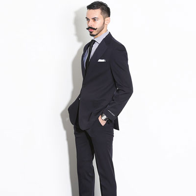 【PABLO】DARK NAVY CLASSIC SINGLE SUIT(5size)