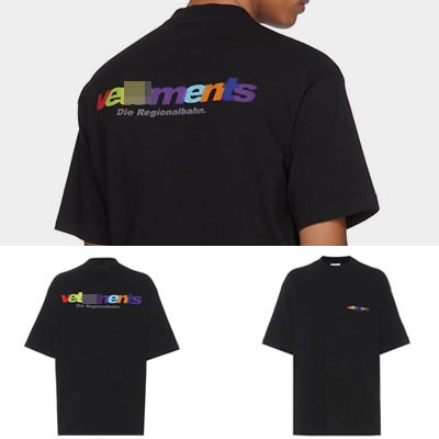 [UNISEX] RAINBOW COLOR LOGO SHORT SLEEVE T-SHIRTS(2color)