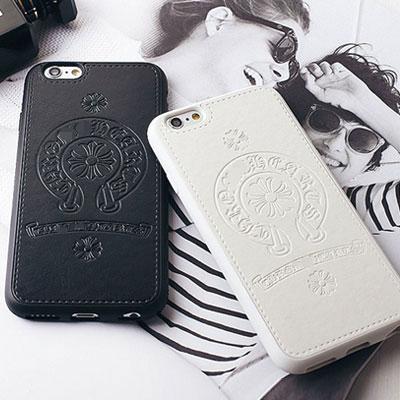 ANTIQUE CROSS LEATHER iPHONE CASE(2color)