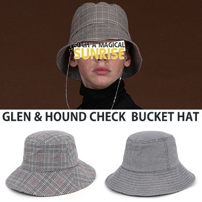 [UNISEX] GLEN&HOUND CHECK BUCKET HAT(2type)