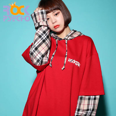 【ROCK PSYCHO】OVERSIZE LONDON ROCKSTAR HOODIE(3color)