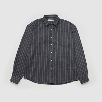 ★40%SALE★[UNISEX] GREY OVERSIZE STRIPE SHIRTS