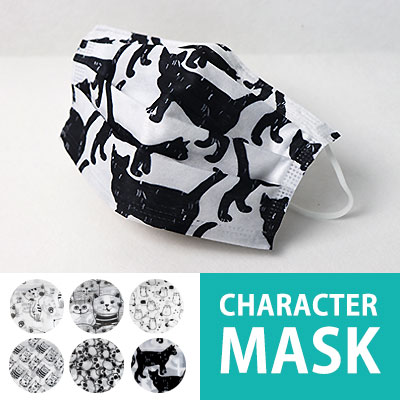★DAY SHIPPING★[6pattern] CHARACTER MASK (1set=6ea)  Cat pattern mask / skeleton pattern mask