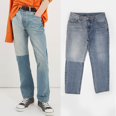 REWORK MISSING POCKET DENIM JEANS(2size)