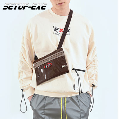 【SETUP-EXE】 CORD LOCK SHIRRING SWEAT SHIRT- BEIGE