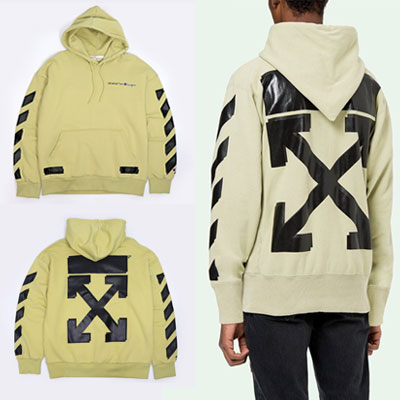 [UNISEX] SAGE COLOR ARROW PRINT PULLOVER HOODIE