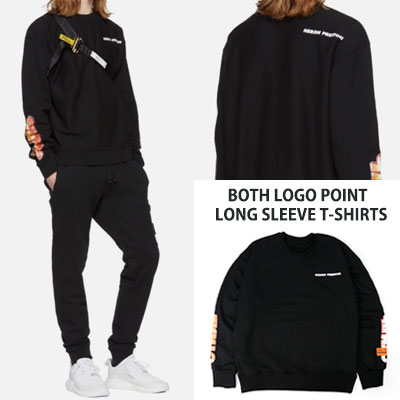 [UNISEX] BOTH LOGO POINT LONG SLEEVE T-SHIRTS