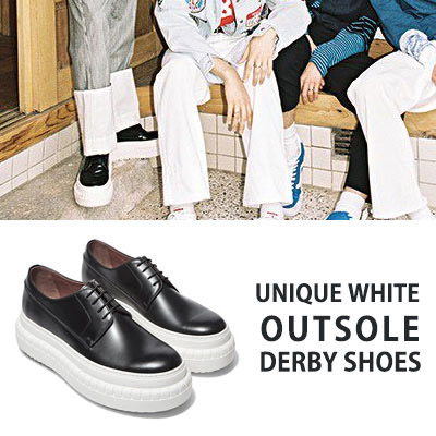 [24.5~28.0cm] NCT U TAEIL st.UNIQUE WHITE OUTSOL DERBY SHOES