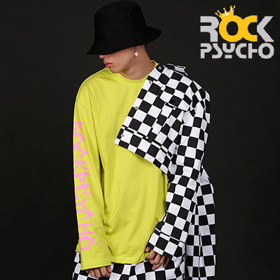 【ROCK PSYCHO】 CHECKERBOARD CROP TOP JACKET