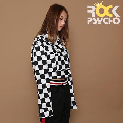 【ROCK PSYCHO】 CHECKERBOARD CROP TOP JACKET