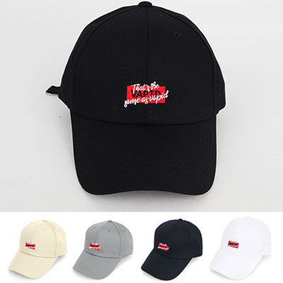 [UNISEX] RED BOX & LETTERING POINT BALL CAP(5color)