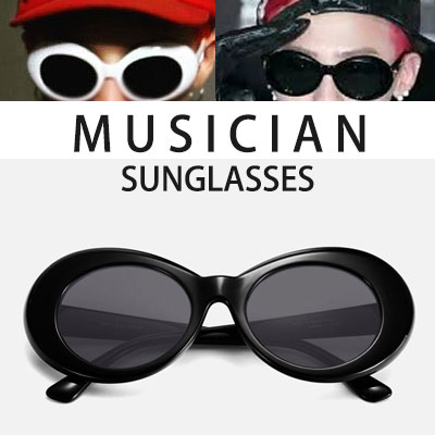 G-DRAGON,KURT COBAIN st. SUNGLASSES(WHITE,BLACK)