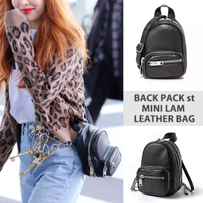 [UNISEX] HYUN-A style! BACKPACK STYLE MINI LAM LEATHER BAG